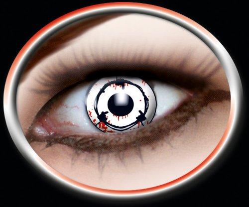 Eyecatcher Color Fun, Farbige Kontaktlinsen, Stacheldraht, Jahreslinsen weich, 2 Stück / BC 8.6 mm / DIA 14.5 mm / 0.00 Dioptrien