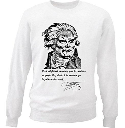 teesquare1st-mens-georges-jacques-danton-citation-white-sweatshirt-size-small