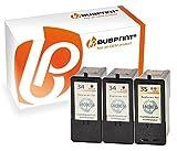 Bubprint 3 Druckerpatronen kompatibel für lexmark 34 35 für P4310 P4330 P4350 P6250 X2510 X3330 X3550 X4550 X5250 X5470 X5495 X7170 X7310 X7350 Z1420