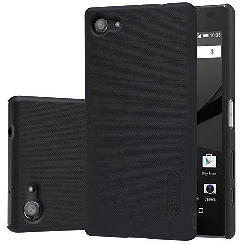 Sony Xperia Z5 Compact Hülle,IVSO Ultra Slim Harte Rückseite Schutzhülle, mit Advanced Shock Absorption Technology hülle + 1 Stück Displayschutzfolie für Sony Xperia Z5 Compact Smartphone (4,6 Zoll (11,7 cm),Schwarz