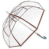 Regenschirm Stockschirm Glockenschirm Damen transparent durchsichtig
