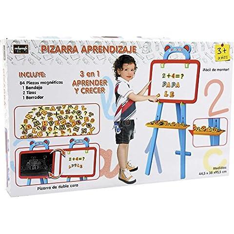 Pizarra educativa con letras y numeros magneticos