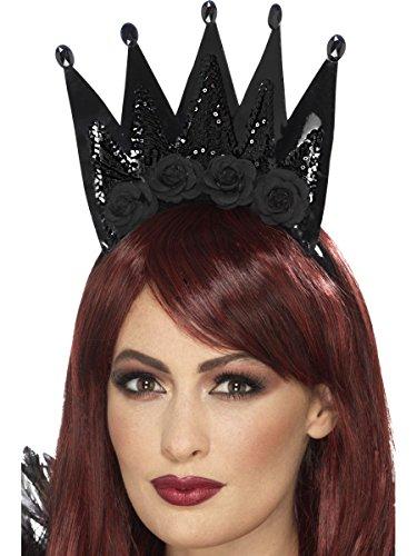 Kostüm Zubehör Krone Böse Königin auf Haarreif Halloween (Böse Königin Halloween Kostüm)