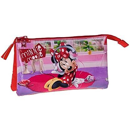 Minnie Mouse – Portatodo triple, 22 x 12 x 5 cm (Next Door)