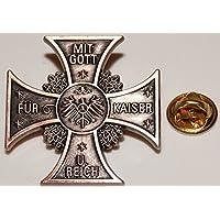 Textilmonster Mit Gott für Kaiser u. Reich Adler Militaria l Anstecker l Abzeichen l Pin 367