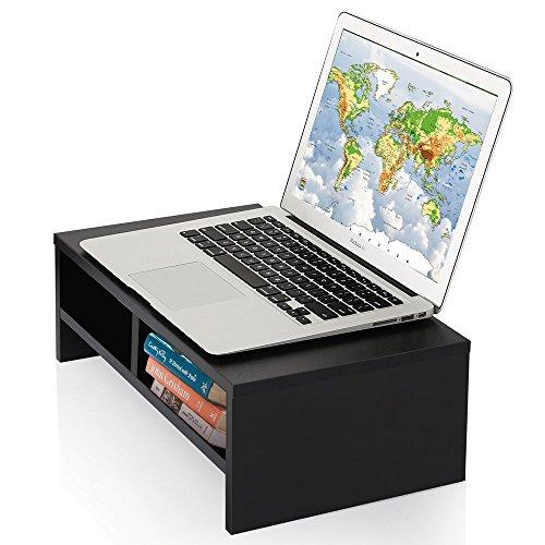 cmhoo Computer Monitor Ständer/Monitor Riser–Laptop-Ständer und Schreibtisch Organizer mit Tastatur Storage und iPad Tablet Handy Slots Computer-monitor-tasche