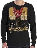 Déguisement de Cowboy Western Halloween T-shirt Manches longues Homme Small Noir