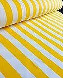 Weiß gestreifter Stoff–Gestreiftes Vorhang- und