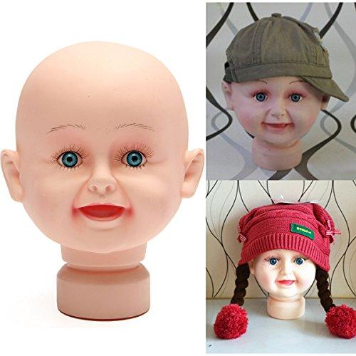 Bluelover Maniquíes Niños Infantiles Cabeza Maniquí Modelo Stand para Sombreros Peluca Pantalla