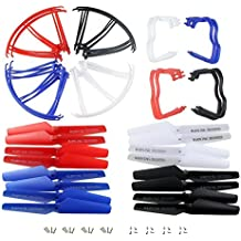 Hometalks ® Free Shipping Hot Sale 40pcs 5 Color Cheerson Cx-10 Propellers Set Rotor Spare Parts for Mini Rc UFO Quad Copter