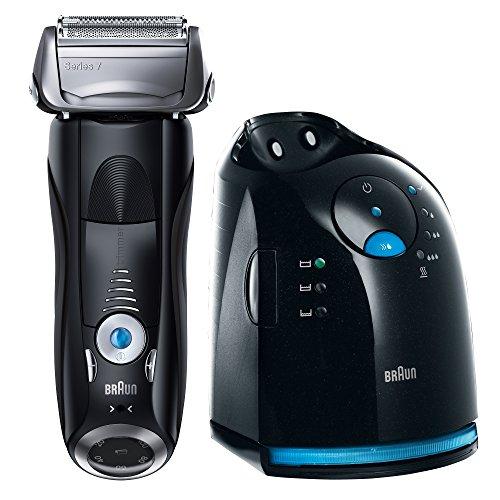 Braun Series 7 Elektrischer Rasierer 765cc, mit Reinigungsstation Clean&Charge, schwarz