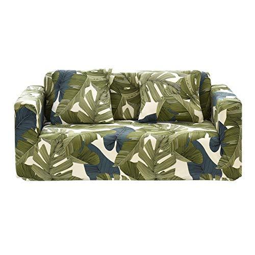 Gowind6 Funda de sofá de Tela elástica con Estampado de Hojas para...