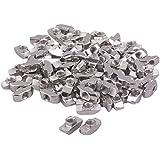 100piezas de plata T bloque de tuerca con rosca M6deslizante para 40Serie Europea estándar aluminio ranura