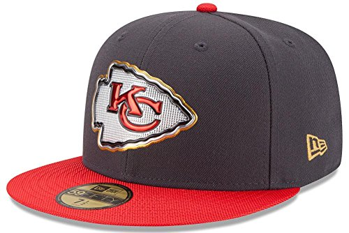- Team Farbe Ausgestattet Hut (New Era NFL KANSAS CITY CHIEFS Gold On Field 59FIFTY Game Cap, Größe:7 1/4)