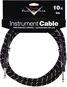 Fender 10ft Custom Shop Black Tweed Straight Instrument Cable