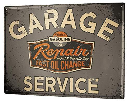 Metal Sign 12x16 Inches Poster Plaque Tin Plate Vintage Plaque Garage Workshop Gas Stations Vintage - Gas Station Sign Display