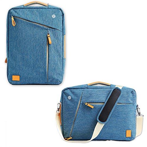 Rucksack Messenger Bag Umhängetasche Design Jeans Style Laptop Tasche Handtasche Business Aktentasche Multifunktion Reise Rucksack passend für 16 Zoll Laptops Herren / Damen (Gefütterte Umhängetasche Denim)
