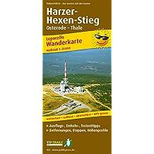 Harzer Hexen-Stieg: Leporello Wanderkarte mit Ausflugszielen, Einkehr- & Freizeittipps, wetterfest, reissfest, abwischbar, GPS-genau. 1:25000 (Leporello Wanderkarte / LEP-WK)