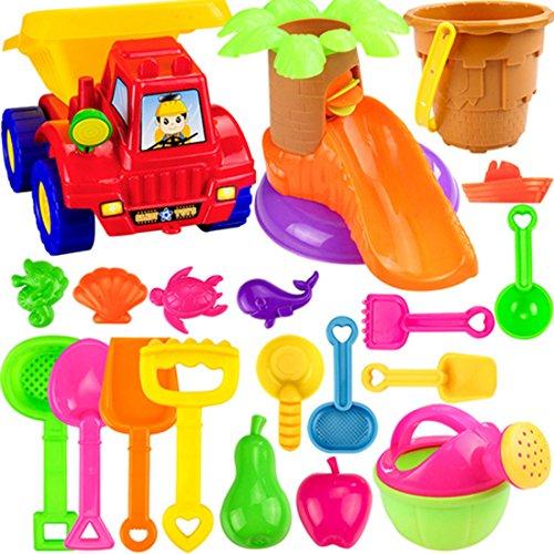 LVPY Kinder Sandspielzeug, 20 Stück Sand Spielzeug Set Strandspielzeug Set Sand Toy Sandkasten Spielzeug für Kinder (Farbe Zufällig)