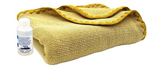 Disana Melange-Babydecke 80 x 100 cm aus Merino-Schurwolle kbT, curry/natur melange inkl. Feinwaschmittel Wiki