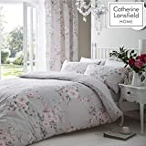 Catherine Lansfield Canterbury Easy Care Double Duvet Set Grey