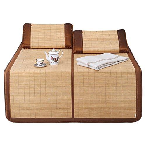 Liuyu · Tapis d'été 1.8m lit carbonisé en bambou tapis 1.5m dortoir pliant simple sans barbes antiadhésive peau durable (taille : 1.8 m (6 ft) bed)