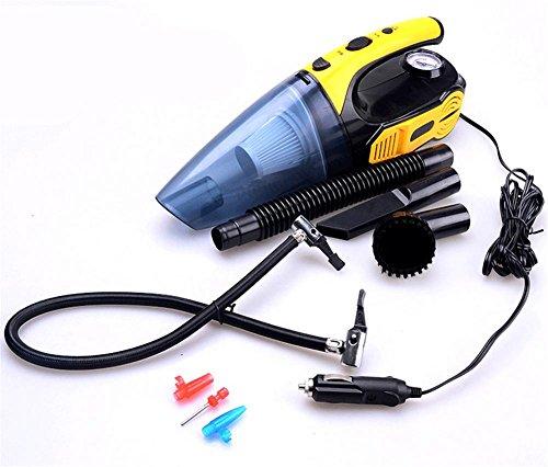 KDGWD Handheld Cleaner Car vuoto, bagnato e Aspirapolvere secco con aspirazione potente e multi-funzioni: gonfiaggio pneumatici, misurazione della pressione dei pneumatici e 100W Illuminazione