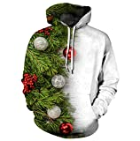 Pull de Noel Homme Sweat a Capuche Pull Moche de Noël Lumineux Drole Sweat Shirt Kitsch Femme Sweat à Capuche Sweet Sweatshirt Renne Imprimé Christmas Cerf Rigolo Kitch Couple Hoodie Unisexe 2XL/3XL