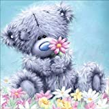 zhouba Cute Bear Puppe 5D Diamant Wandbild Ölgemälde Kreuzstich Kit DIY Craft Schlafzimmer Decor, multi, Einheitsgröße