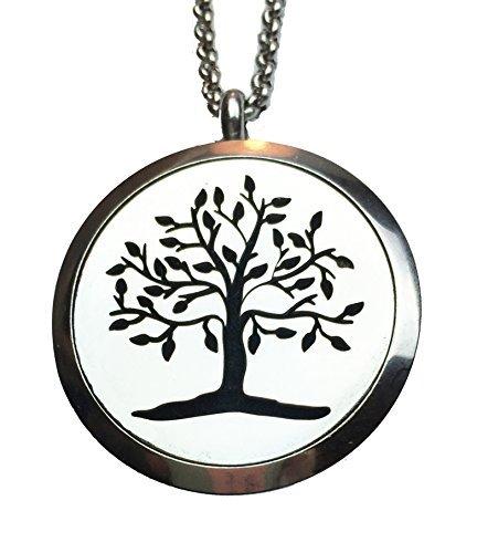 Ultimate Diffusor Halskette mit Anhänger für ätherisches Öl, eleganter Baum des Lebens, hypoallergener Edelstahl, tragen Sie Ihren Lieblingsduft um den Hals den ganzen Tag lang. Ideales Geschenk