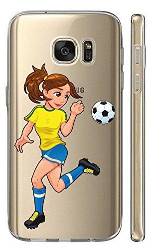 Brünette Duo (Hülle für Samsung Galaxy J5 2016 J510/Duos Softcase Cover Backkover TPU Schutzhülle Slim Case (2197 Fussballerin Brünett))