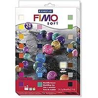 Staedtler Bloques de masa para modelar Fimo soft. Caja con 24 unidades. 8023 01
