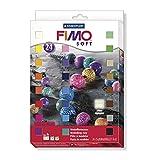 Fimo - 24 bloques de masa para moldear de 25 g en colores variados y que endurece en el horno...