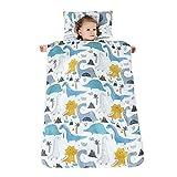 Belupai Sacco a pelo per riposino dei bambini, con cuscino e coperta rimovibili, adatto per casa, scuola materna, A2., 100 x 70 cm
