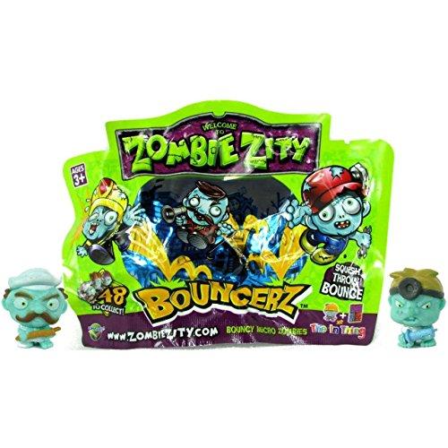 x Zombie Zity Bouncerz Micro-Figuren (Sabertasche von 24 Folienpackungen) Großhandelspreis, ideal für Party-Bag Füller oder Füllung. (Glow In The Dark Party-taschen)