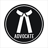 #5: isee360 Advocate Logo Black & White car decal sticker Windows Sides Hood Bumper Standard Size for All Cars