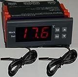 Differenziale 12V temperatura controller t2-t1termostato scaldabagno, pannello solare per piscina pompa 2sensori Fahrenheit Celsius