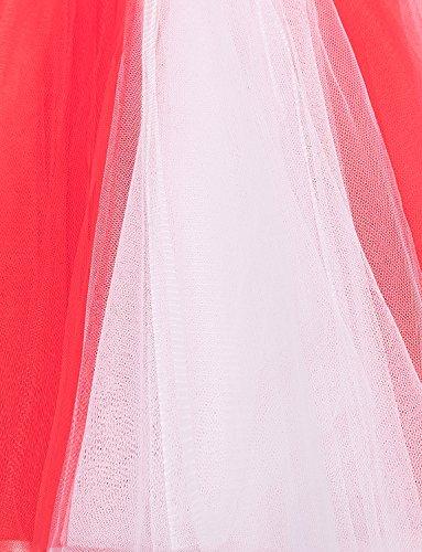 BeiQianE Frauen 50er Jahre Vintage Petticoat Multi-Layer-Short Unterrock rutscht Krinoline Ballett Bubble Tutu Rock Schwarz+Weiß
