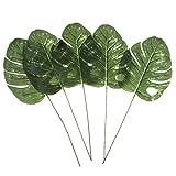 Homyl 5 Stück Groß Palmen Grün Kunstblätter Deko Künstliche Blätter, Wohnkultur - L