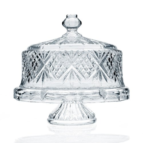 Godinger Dublin Crystal Cake Plate with Dome Cover by Godinger Dublin-dome