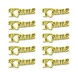 10 PCS or Alphabet Lettres anglais Pendentifs personnalisés bricolage pour la fabrication de bijoux pour Collier Bracelet (J143-Kiss Me style)