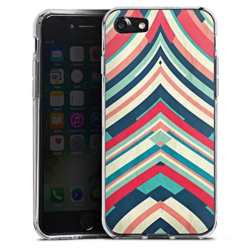 Apple iPhone X Silikon Hülle Case Schutzhülle Streifen Muster Gestreift Silikon Case transparent