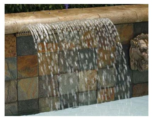 Pentair Water Pool Spa (Pentair 581402ARBBF Magicfalls Water Effect Super Lippen-Serie Arc Rain, Messing, 60 cm)