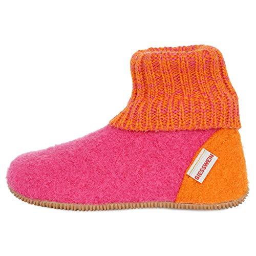 Giesswein Unisex-Kinder Wildpoldsried Kids Hohe Hausschuhe, Pink (Himbeer 364), 32 EU