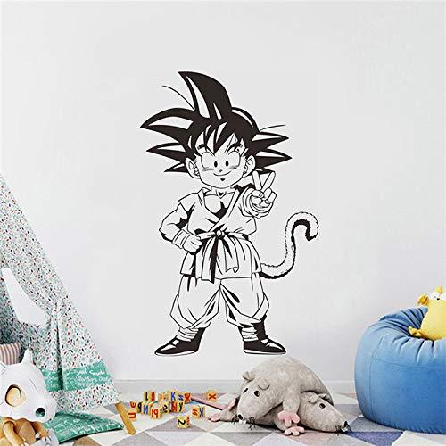guijiumai Goku Boy Wandtattoo Vinyl Aufkleber s Anime Cartoons Home Decoration Art Abnehmbare Wandaufkleber schwarz 42x67cm -