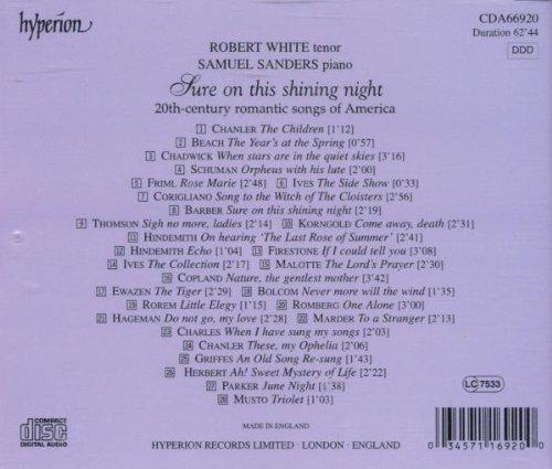 Sure on This Shining Night : 20th-Century Romantic Songs of America