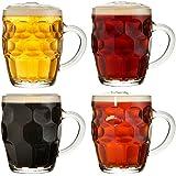 VonShef Set de 4 Chopes de Bière Traditionnelles - 55.5 cl