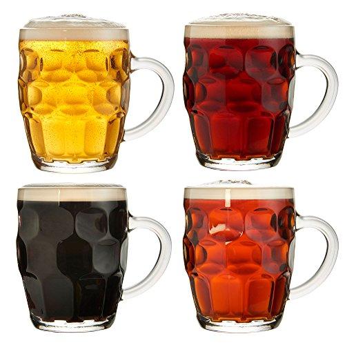 Vonshef - set da 4 bicchieri/boccali tradizionali da birra