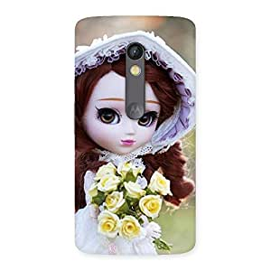 Enticing Bride Angel Doll Multicolor Back Case Cover for Moto X Play