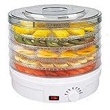 Grupo K-2 Deshidratador de Alimentos de 350W con Cinco bandejas y regulador de Temperatura de 35 a...